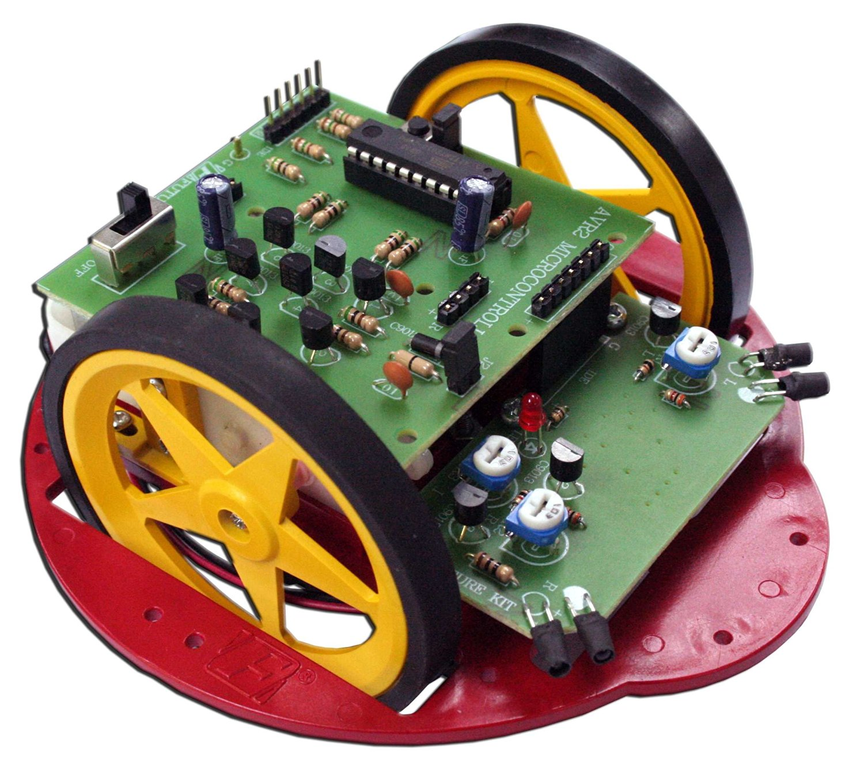 AVR ELECTRONIC OBSTACLE-AVOIDING Robot Kit Re-program ATTINY2313 2xFront Sensor