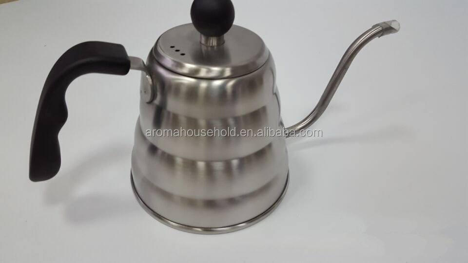 High grade stainless steel pour over coffee kettle, hario drip kettle 1200ml