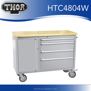 Thor 48u0026quot;truck Storage Boxes Lockable Tool Cabinet Trolley Tools