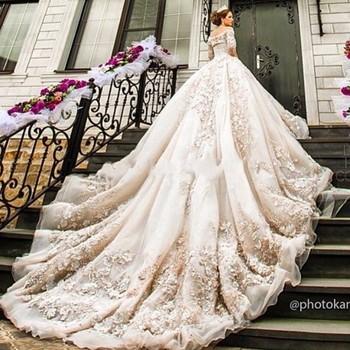 Ne064 Luxury Cathedral/royal Train Muslim Wedding Dress 2017 Vintage ...