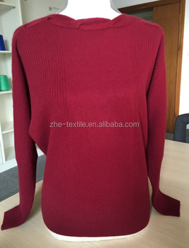 Cable Knit Cashmere Sweater In Red Wine Color - Buy Pullover ...
