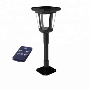Intelligent Induction DIY Design All In One Lawn Pole Lighting Post Lamp Column 2W Outdoor LED Solar Power Garden Light