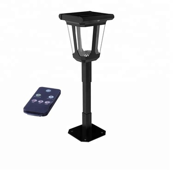 Smart Induction DIY Design All In One Lawn Pole Post Lamp Column 2W Outdoor LED Solar Garden Light