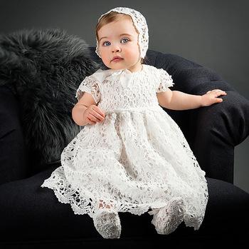 91651536c Vestido de bautismo de bebé niña vestido de cumpleaños para bebé niña  bautizo vestido niños ropa