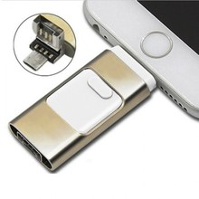otg Flashidrive full capacity 3 in 1 Phone Memory USB Flash Drive U Disk For iPhone and for iPad Android Cell Phone