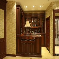 China High Quality Living Room Furniture Antique Wooden Wine Cabinet
