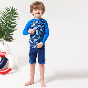 HT-LBS 2017 soft breathable latest european kids fashion swimwear long sleeve swimwear for kids