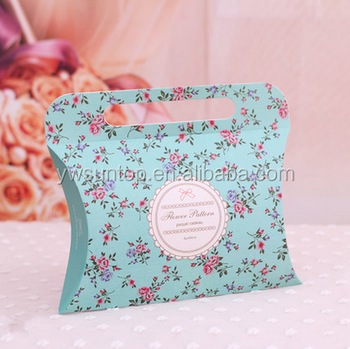 Newest Design European Wedding Favors Paper Pillow Candy Favor Box