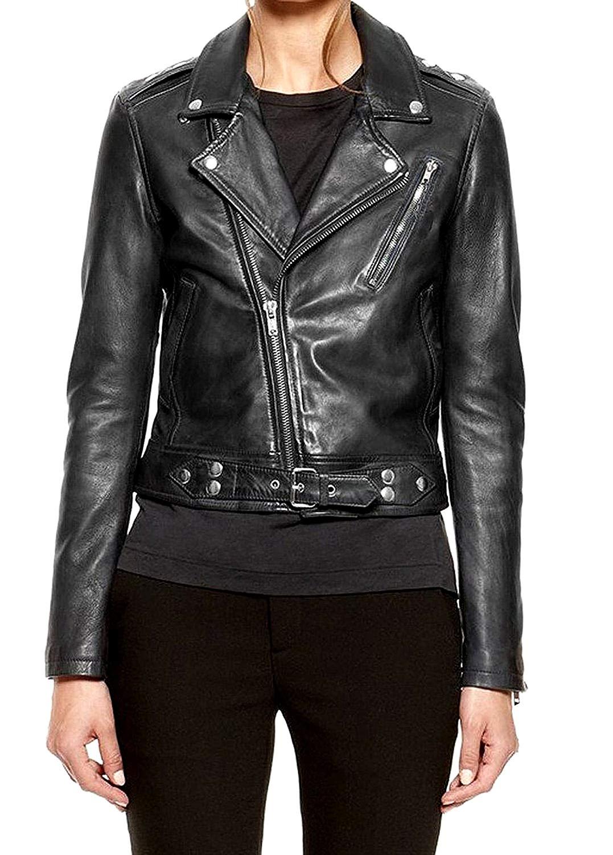Leather Skin Design Men Pure 100% Lambskin Leather Solid Biker Leather Jacket
