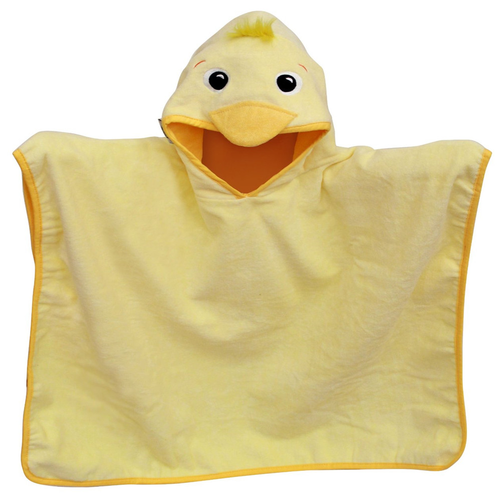 Kids hooded poncho beach towel animal plain hooded poncho towels for kids