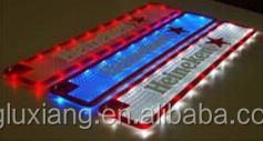 hot sell soft rubber led bar mat pvc LED light bar drip mat