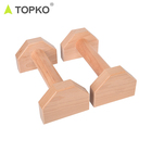 TOPKO wholesale Hot selling mobility durable fitness gym adjustable parallettes strength training wooden push up bar