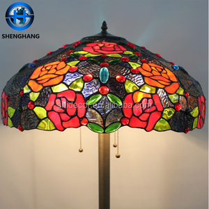 High Quality stained glass lamp Antique Tiffany style Floor Standing Lamp flower floor lamp