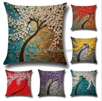 Fabric Painting Designs Sofa Chair Cushion Cover