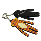 Promotional items,custom 3D football uniform pvc silicone keychain/rubber keyring key chains