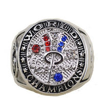 round shape championship ring custom team ring with team logo