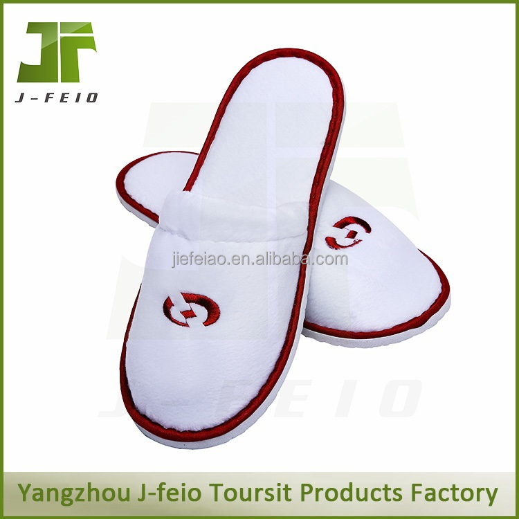 washable disposable white velvet hotel slipper
