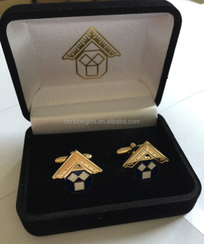 Wholesale men's cufflinks soft enamel masonic cufflink