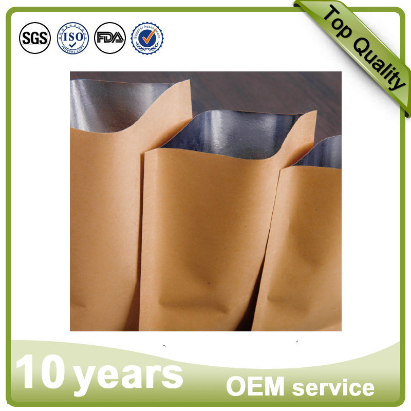 accpet custom order popular environmental recycled heat seal kraft paper bags for food/snake/fast food/fruit/kfc/sandwish