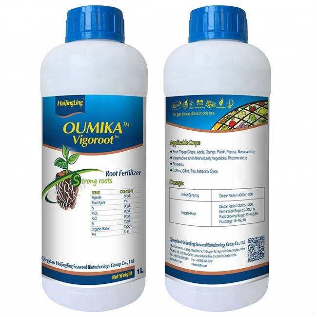 Vigoroot Hydroponic Nutrients Solution Seaweed bio root liquid fertilizer seaweed extract fertilizer kelp fertilizer