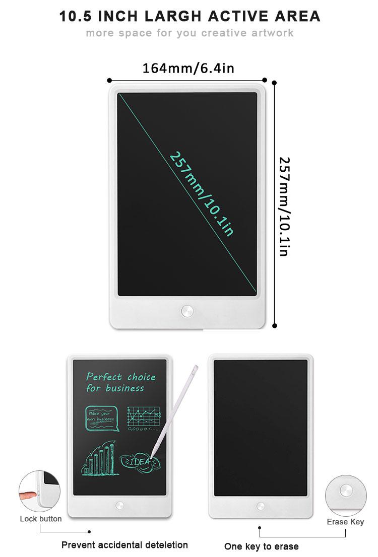 Newyes LCD da 10.5 pollici Tavoletta Digitale Memo Pad Per Bambini Frigorifero Magnetico Bordo di Scrittura