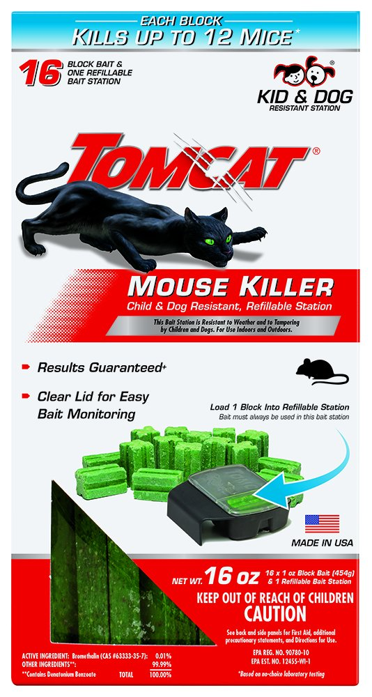 Tomcat Mouse Killer Child & Dog Resistant, Refillable Station