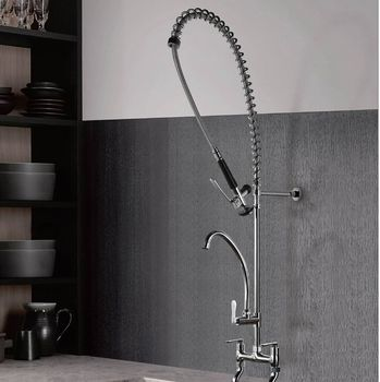 Wall Mounted Pre Rinse Industrial Kitchen Faucet Buy Pre Rinse Faucet Industrial Kitchen Faucet Product On Alibaba Com