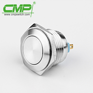 CMP 16mm momentary stainless or brass wall button switch ip67