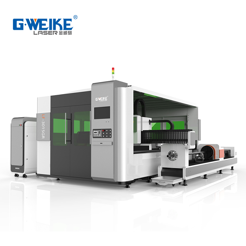 Metal plate and tube laser cutting machine