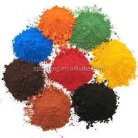 Ferric oxide with red,blue,green,black,yellow color