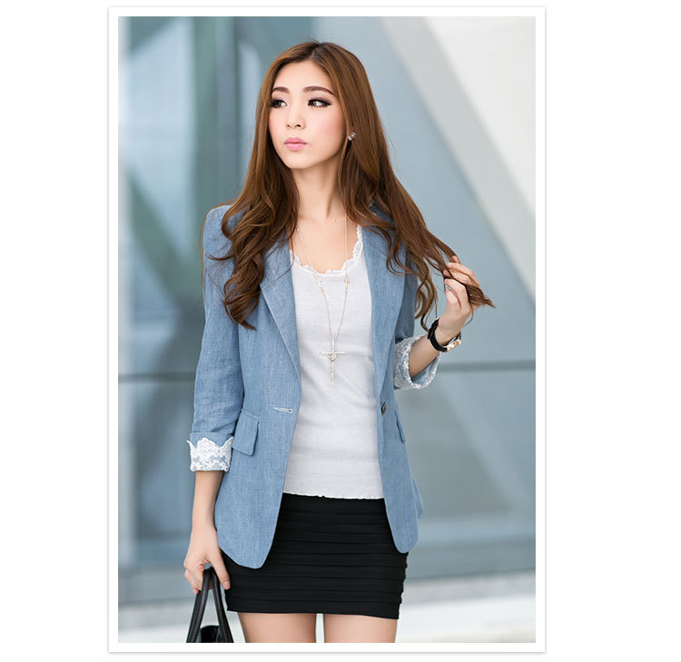 5497b7f9842b0 Get Quotations · Spring Autumn Women Casual Blazers