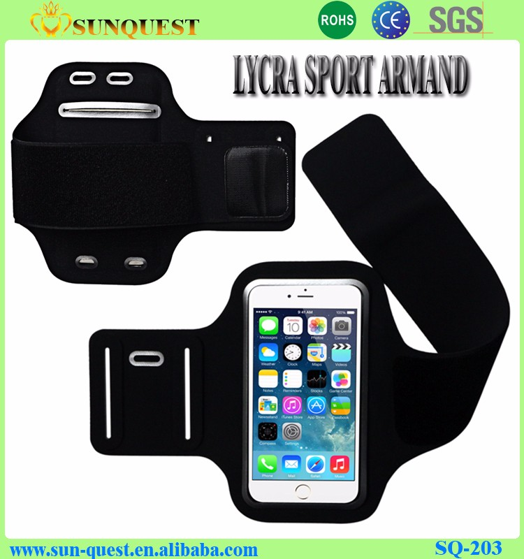Elastic Gym Running Sports Armband Cell Phone Case Lycra Arm Band ...