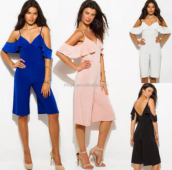 l1884a backless women rompers workout one piece loose casual