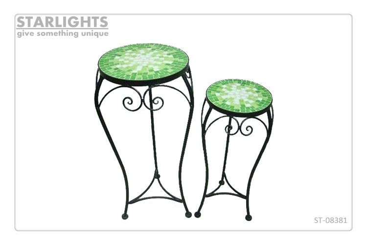 interior low metal mosaic Classical Plant Stand