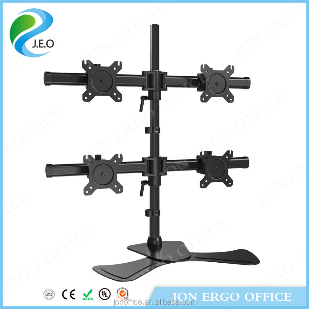 JEO YS-MP340SL Adjustable Tablet LCD Monitor Arms for four computer screen monitors