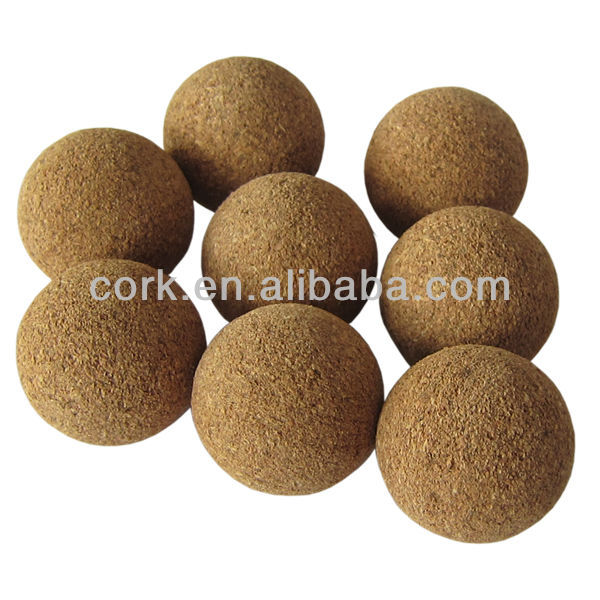 Colored and Natural Color Cork Table Soccer Balls, Cork Ball