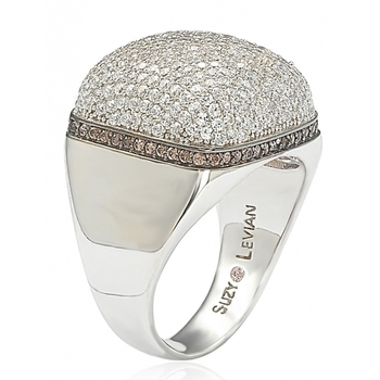 New Models Design White Gold Plated Silver Cubic Zirconia Ring