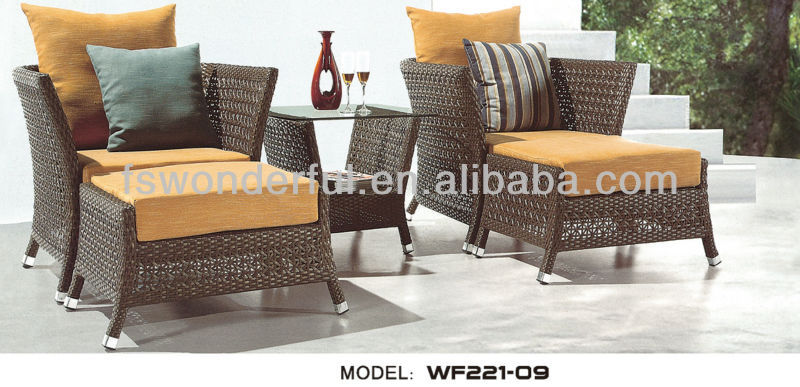 WF221-09 rattan/wicker patio cafe furniture
