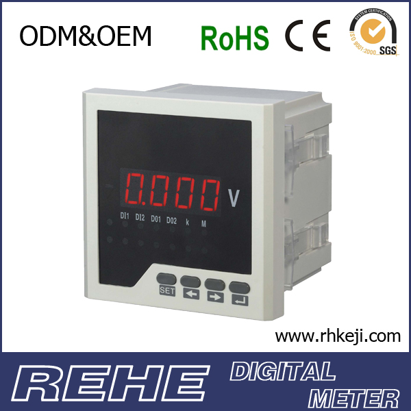 Single phase voltage voltmeter 12 volt meter volt & ampere meter
