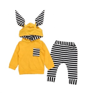 LOW MOQ newborn two pieces with hat outfits autumn winter baby clothes set