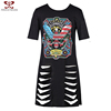 Super Fashion Design Wholesale 100% Cotton Women T-shirt,OEM Ladies T-shirt Print Design,Female Collar T-shirt