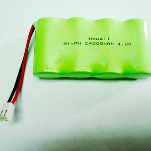 C size rechargeable 4.8v 4000mah nimh battery pack for emergency light