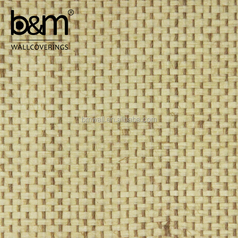 Greenland Wallcovering Natural Textured Grasscloth Wallpaper Paper Weave