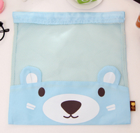 Hot sale cute mesh drawstring laundry bag made in china for kids