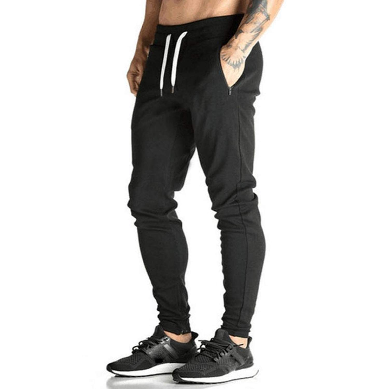 6d5de0b9774f8b Get Quotations · Men Sweatpants,Haoricu Men Trousers Harem Sweatpants  Skinny Slim Fit Jogger Dance Sportwear Pants