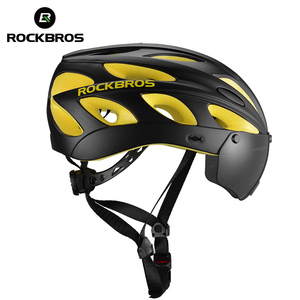 ROCKBROS Wholesale Bicycle Parts Mountain Bike Cycling Helmet with Polarized Goggle