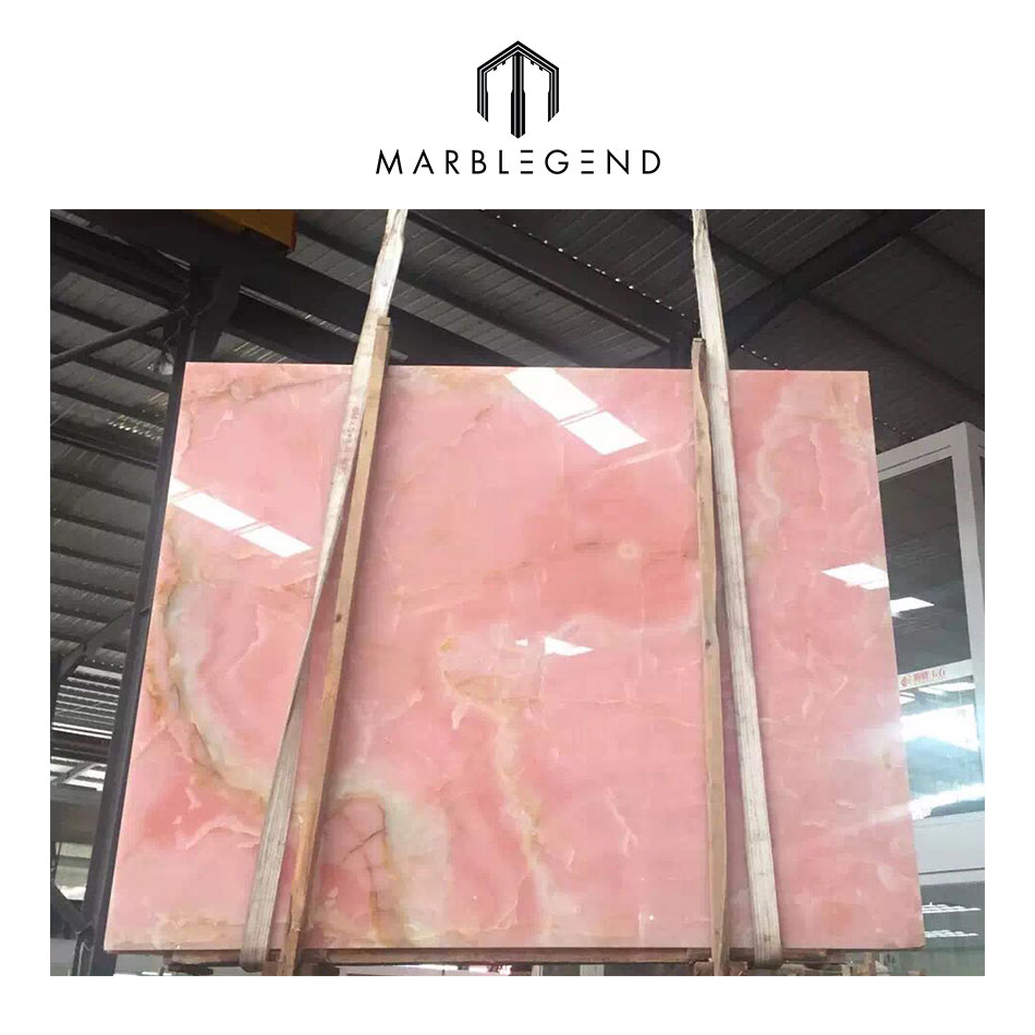 PFM top 5 beautiful transmittance pakistan pink  onyx marble slab for wall