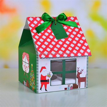 big house shaped cupcake display carrier boxes christmas cupcake muffin gift and storage transport box