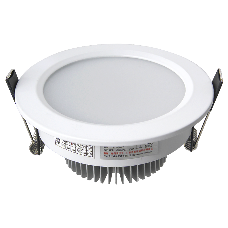 CE RoHS SAA certified 7W  led down light round ceiling panel recessed flood lamps lighting ip44 led downlight