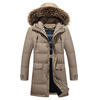 2017 New Thick Long Coat Fur Collar Men Winter Jacket Men's High Quality Hooded Down Coat Down Parka